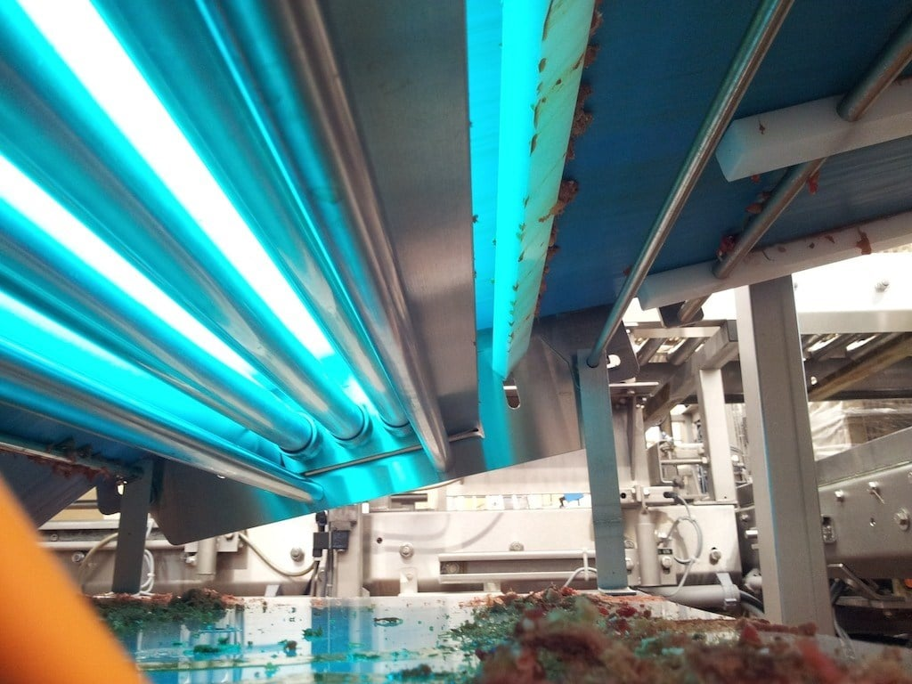 decontamination of surfaces with UV-C light