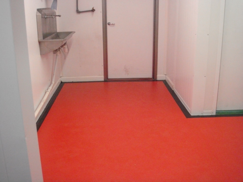 antibacterial floor covering by hand washing