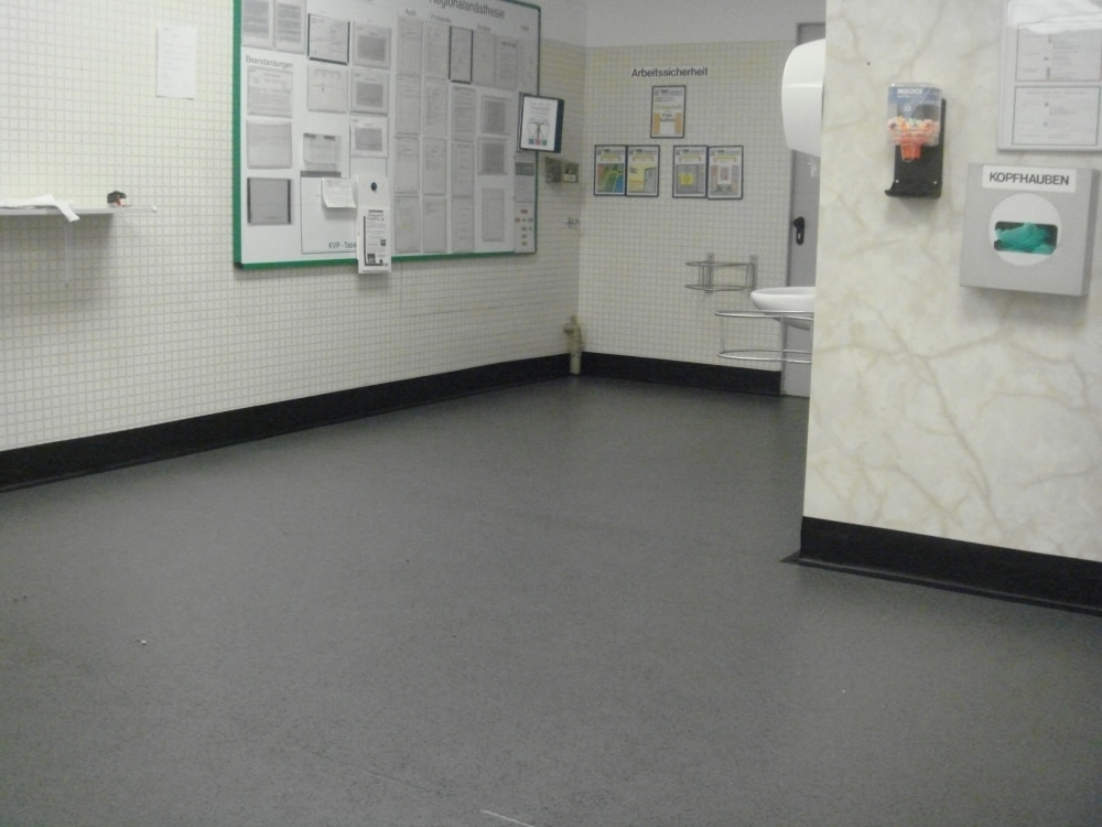 antibacterial flooring at entrance