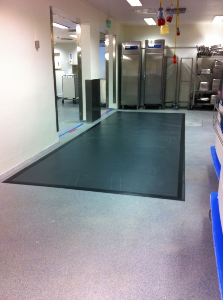 antibacterial mat in commercial kitchen